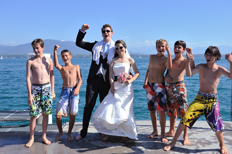 Eine Hochzeit am Genfer See